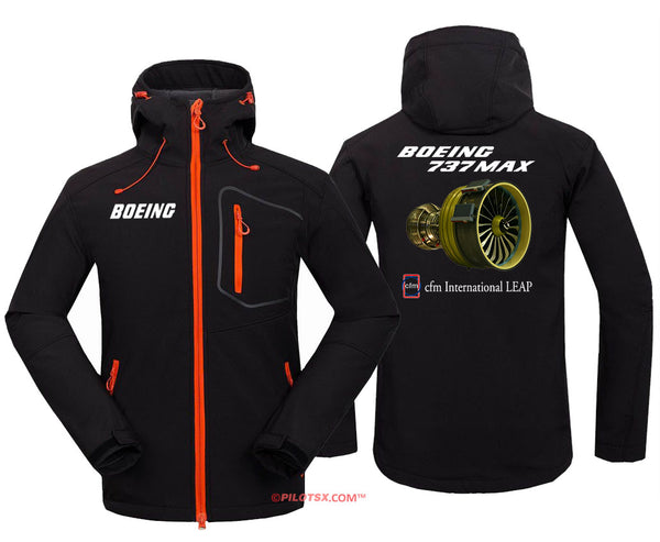 B-737 Max Engine Fleece Hoodie