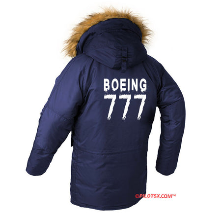 BOEING 777 DESIGNED WINTER N3B PUFFER COAT