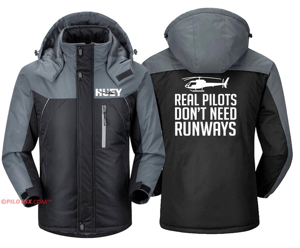 Real Helicopter Pilot don't need Runways Jacket