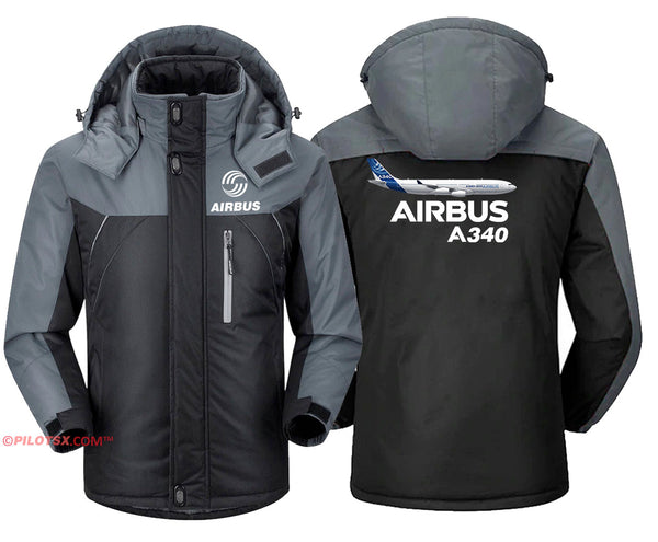 AIRBUS A340 WITH AIRCRAFT JACKET