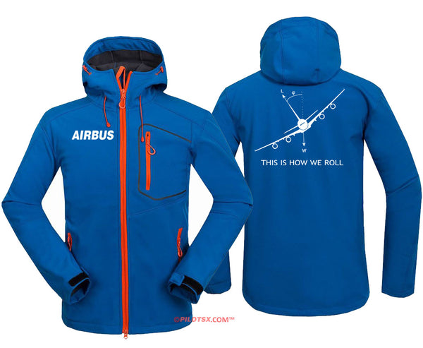 AIRBUS A80 HOW ROLL Fleece Hoodie