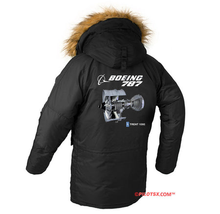 BOEING 787 ENGINE DESIGNED WINTER N3B PUFFER COAT