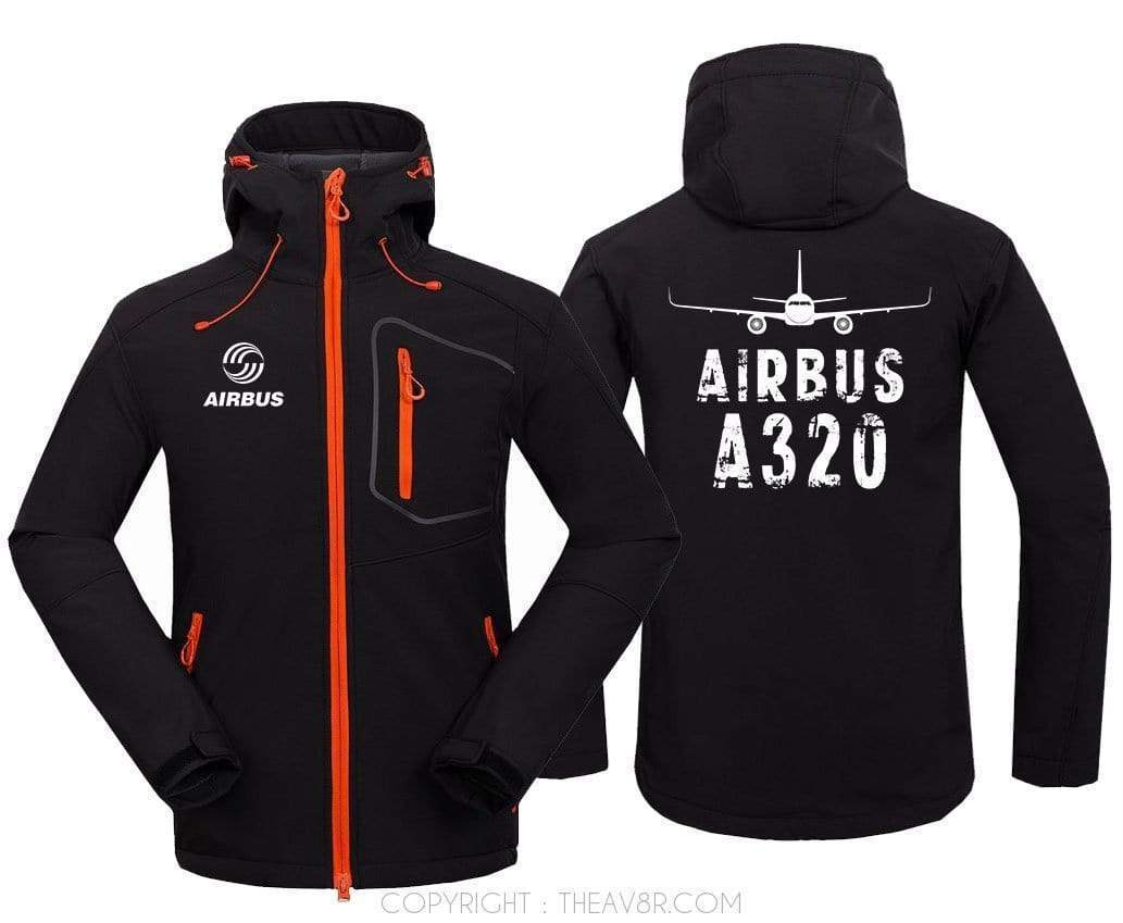 AIRPLANE LOVER Hoodie Jacket Black / S A 320