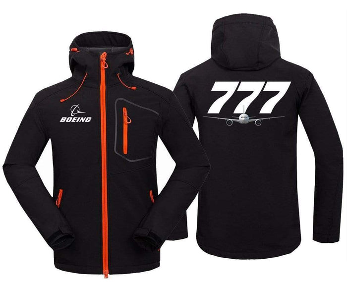AIRPLANE LOVER Hoodie Jacket Black / S B 777