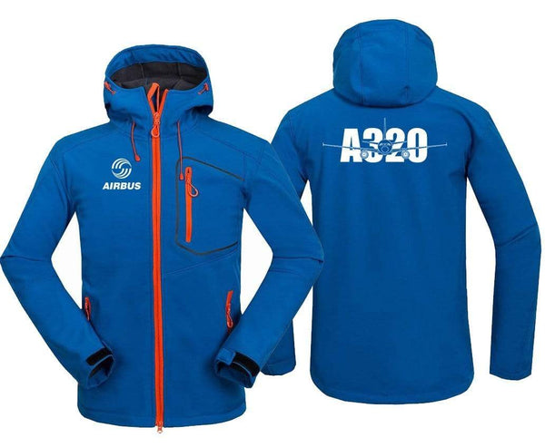 AIRPLANE LOVER Hoodie Jacket Blue / S AIRBUS A320