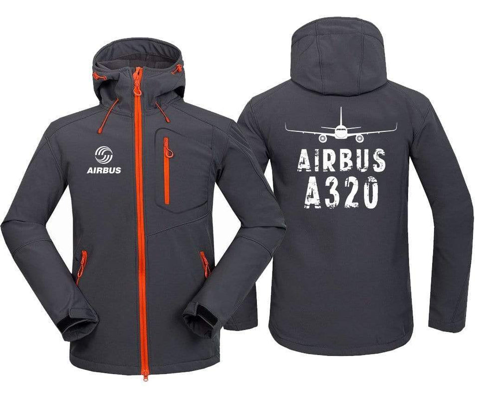 AIRPLANE LOVER Hoodie Jacket Dark Gray / S A 320