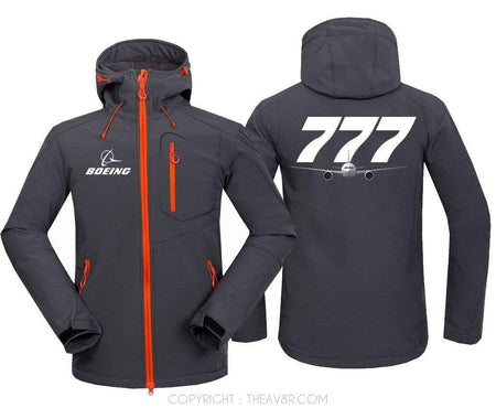 AIRPLANE LOVER Hoodie Jacket Blue / S B 777
