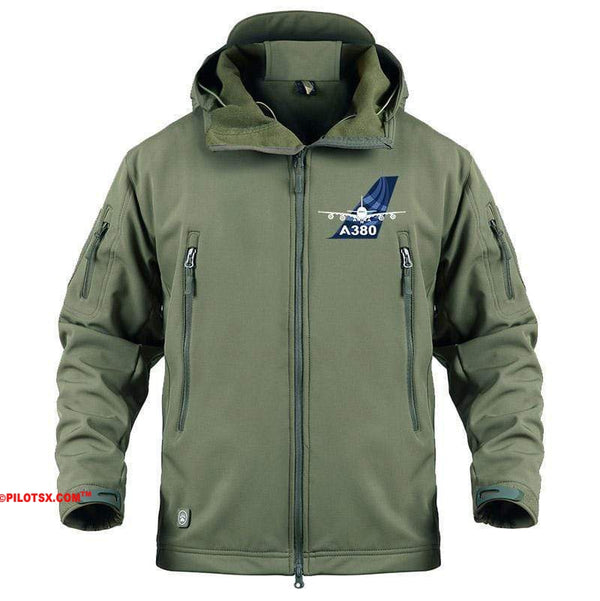 AIRPLANE LOVER Military Fleece Black / S Airbus 380