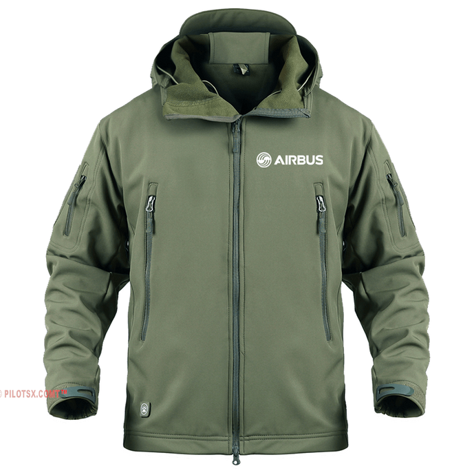 AIRPLANE LOVER Military Fleece Army Green / S AIRBUS LOGO-Military Fleece