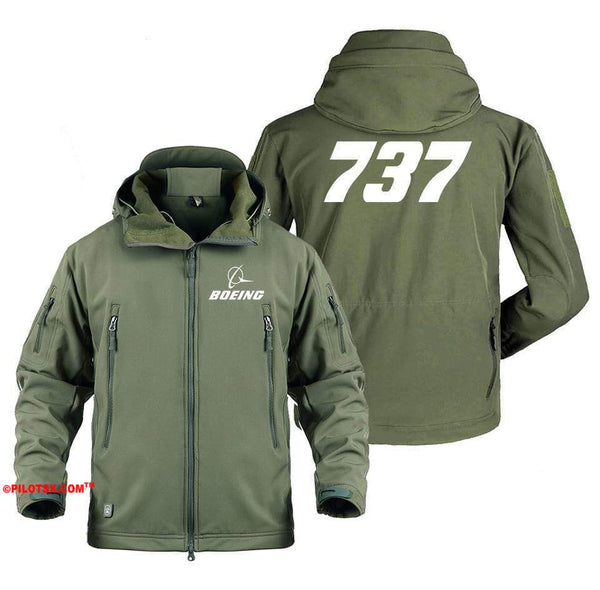 AIRPLANE LOVER Military Fleece Gray / S B 737
