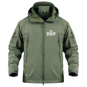 AIRPLANE LOVER Military Fleece Army Green / S Boeing 737