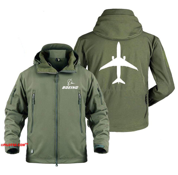 AIRPLANE LOVER Military Fleece Gray / S Boeing 737 Aircraft Views