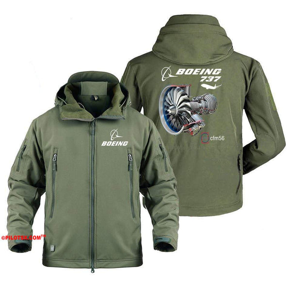AIRPLANE LOVER Military Fleece Gray / S Boeing 737-CFM56