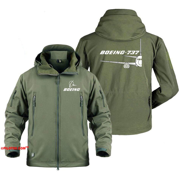 AIRPLANE LOVER Military Fleece Gray / S Boeing 737 Cross Section