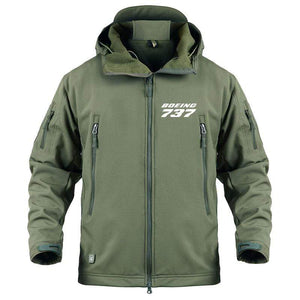 AIRPLANE LOVER Military Fleece Army Green / S Boeing 737 Jacket