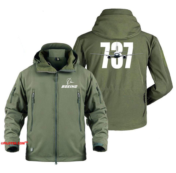AIRPLANE LOVER Military Fleece Gray / S Boeing 737 Shadow Jacket