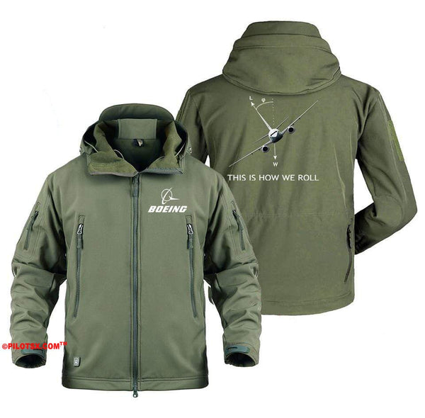 AIRPLANE LOVER Military Fleece Gray / S Boeing 737 This is How we Roll