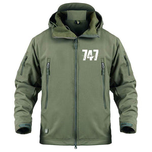 AIRPLANE LOVER Military Fleece Army Green / S Boeing 747 Jacket