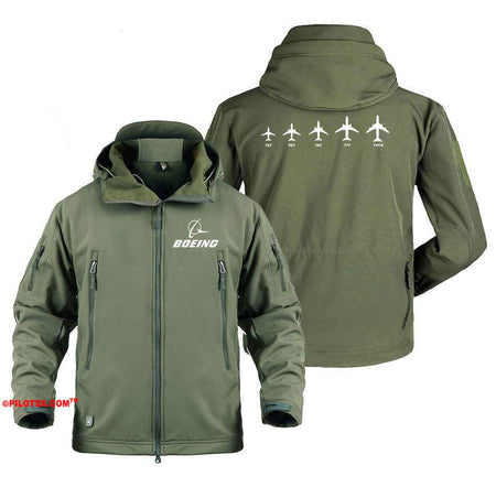 AIRPLANE LOVER Military Fleece Gray / S Boeing Family