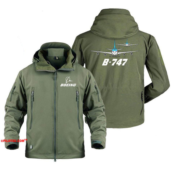 AIRPLANE LOVER Military Fleece Gray / S Boeing Two 747