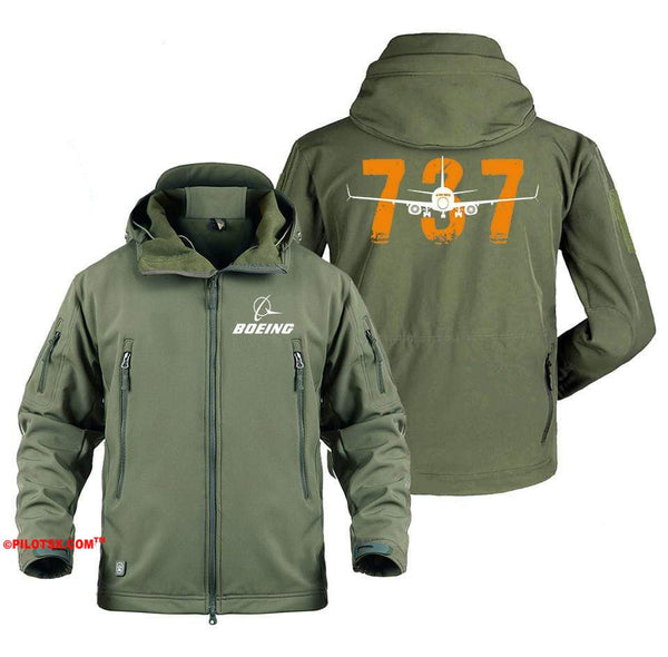 AIRPLANE LOVER Military Fleece Gray / S Colorful Boeing 737