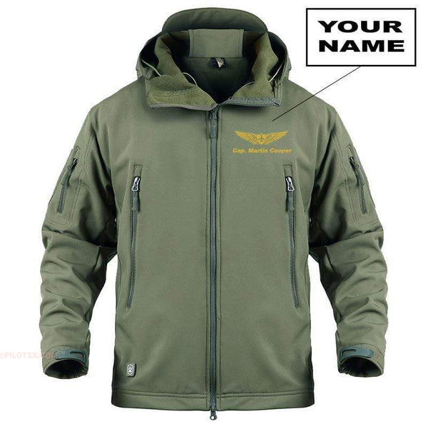 AIRPLANE LOVER Military Fleece Sand / S Custom Military Fleece Warm Tactical Jacket