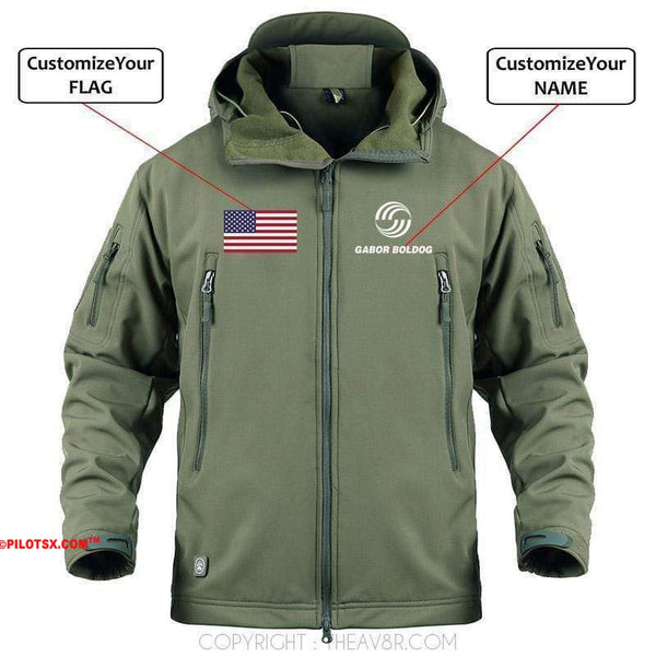 AIRPLANE LOVER Military Fleece Black / S CUSTOM NAME & FLAG AIRBUS LOGO - WARM TACTICAL II MILITARY FLEECE