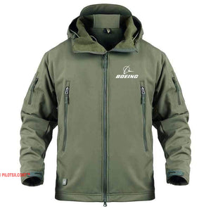 AIRPLANE LOVER Military Fleece Army Green / S Military Fleece Warm Tactical Boeing Jacket