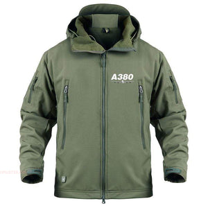 AIRPLANE LOVER Military Fleece Army Green / S New Airbus- A380