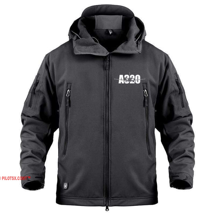 AIRPLANE LOVER Military Fleece Black / S Airbus A320