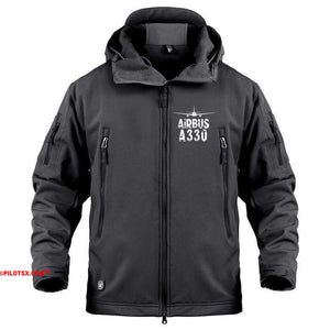 AIRPLANE LOVER Military Fleece Black / S Airbus A330