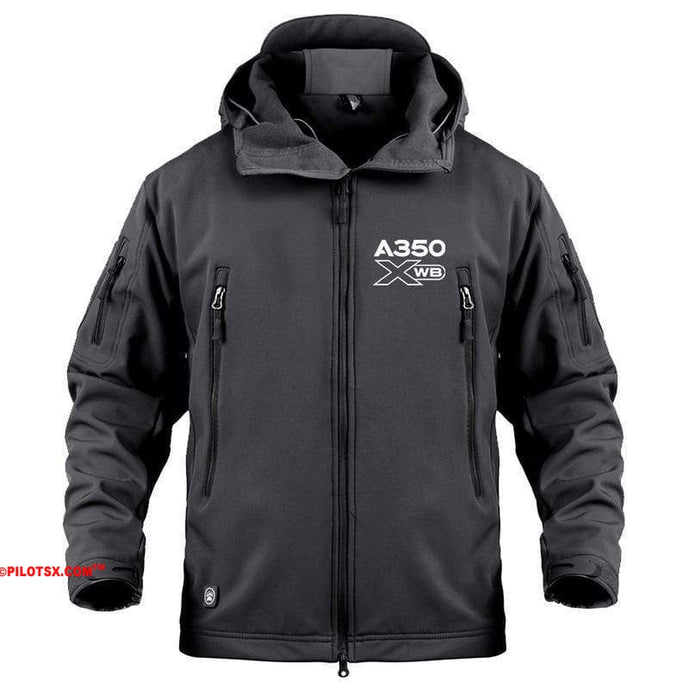 AIRPLANE LOVER Military Fleece Black / S Airbus A350 XBW