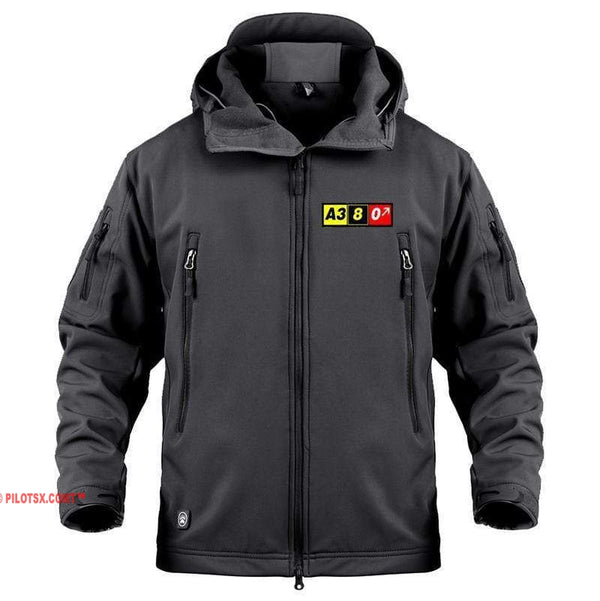 AIRPLANE LOVER Military Fleece Black / S Airbus A380