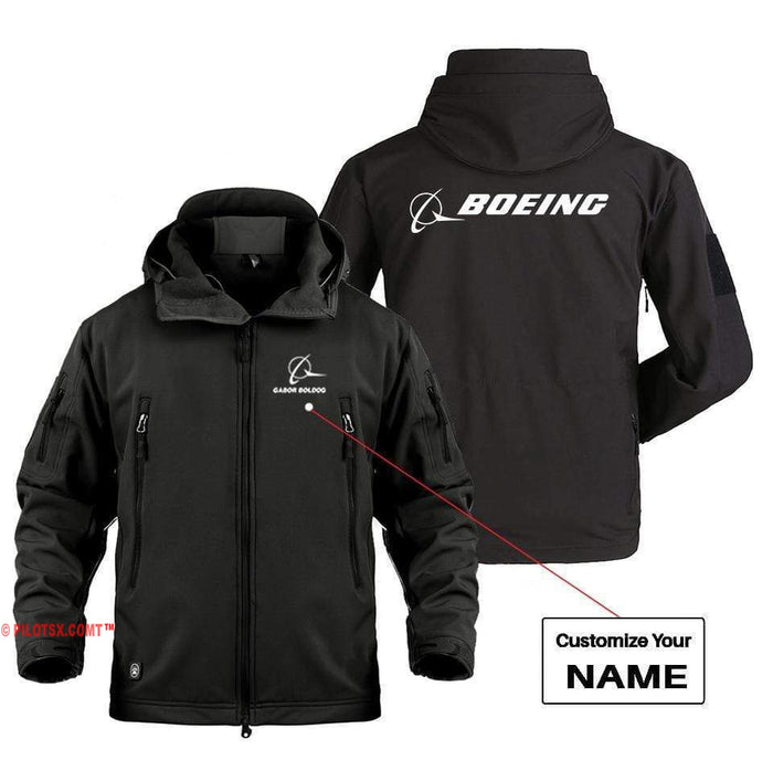 AIRPLANE LOVER Military Fleece Black / S B LOGO CUSTOM NAME DESIGNED MILITARY FLEECE