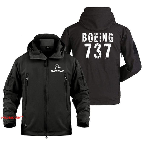 AIRPLANE LOVER Military Fleece Black / S Boeing 737