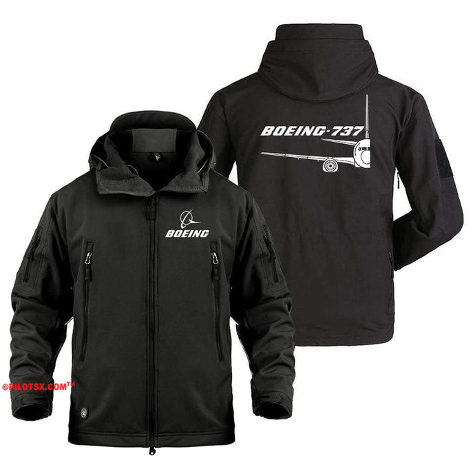 AIRPLANE LOVER Military Fleece Black / S Boeing 737 Cross Section