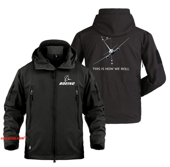 AIRPLANE LOVER Military Fleece Black / S Boeing 737 This is How we Roll