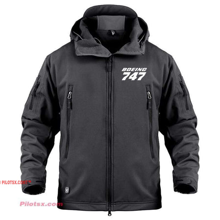 AIRPLANE LOVER Military Fleece Black / S Boeing 747