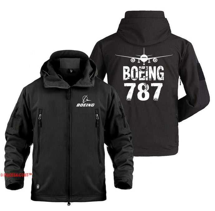 AIRPLANE LOVER Military Fleece Black / S Boeing 787