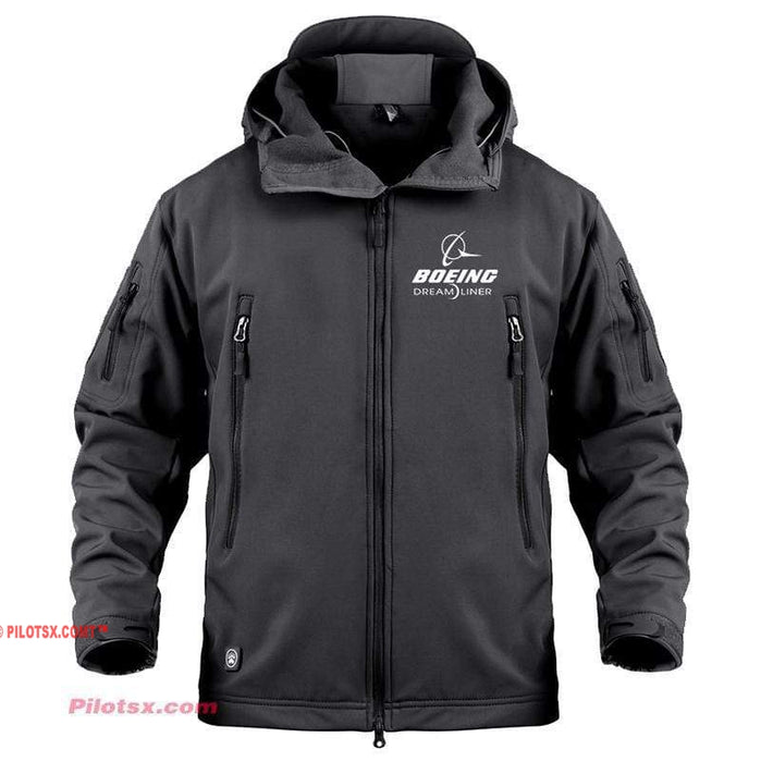 AIRPLANE LOVER Military Fleece Black / S Boeing 787 Dreamliner