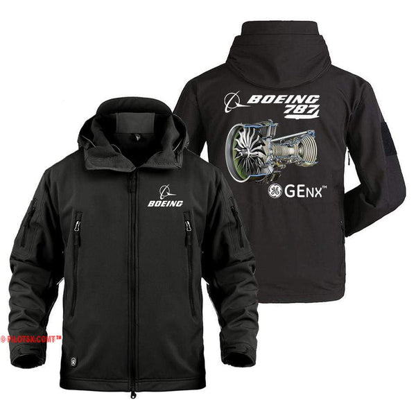 AIRPLANE LOVER Military Fleece Black / S Boeing 787 GENX