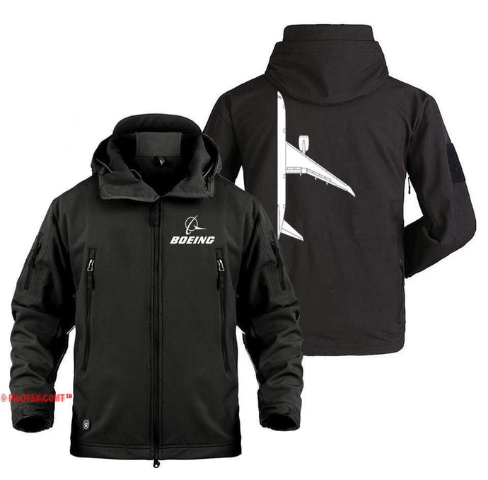 AIRPLANE LOVER Military Fleece Black / S Boeing 787 Side View