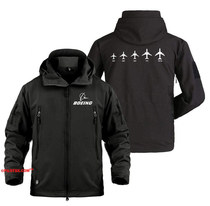 AIRPLANE LOVER Military Fleece Black / S Boeing Family