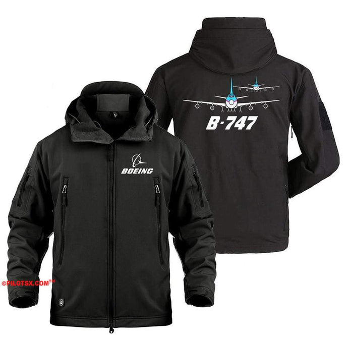 AIRPLANE LOVER Military Fleece Black / S Boeing Two 747