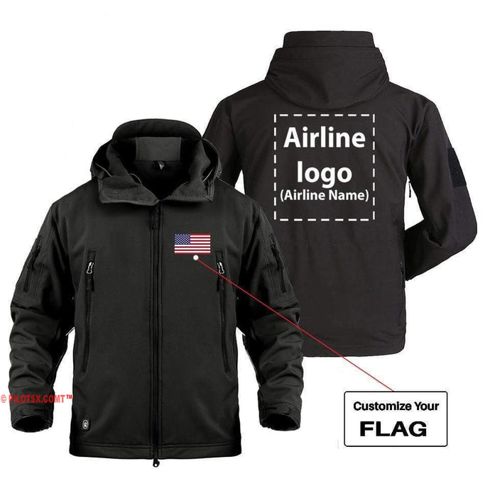AIRPLANE LOVER Military Fleece Black / S CUSTOM FLAG & AIRLINE LOGO DESIGNED MILITARY FLEECE