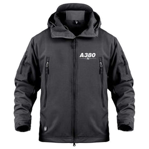 AIRPLANE LOVER Military Fleece Black / S New Airbus- A380