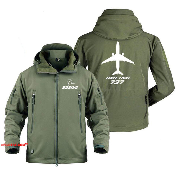 AIRPLANE LOVER Military Fleece Copy of Boeing 737 Aircraft Views