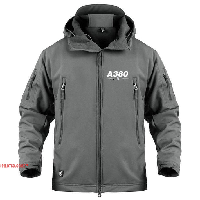 AIRPLANE LOVER Military Fleece Gray / S Airbus A380