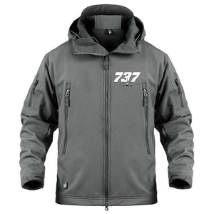 AIRPLANE LOVER Military Fleece Gray / S Boeing 737