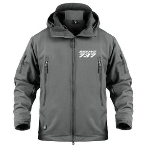 AIRPLANE LOVER Military Fleece Gray / S Boeing 737 Jacket